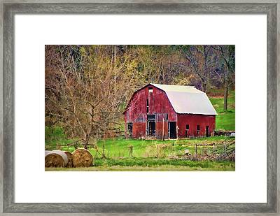 Jemerson Creek Barn Framed Print by Cricket Hackmann