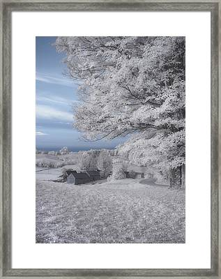 Jenne Farm Vermont In Infrared Framed Print by Joann Vitali