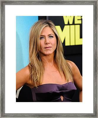 Jennifer Aniston 2013 Framed Print by SartorialPhotos Wire Service