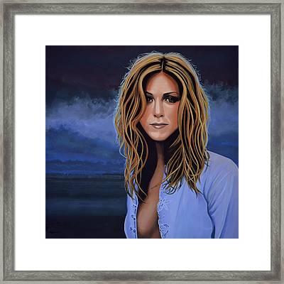 Jennifer Aniston Framed Print by Paul Meijering