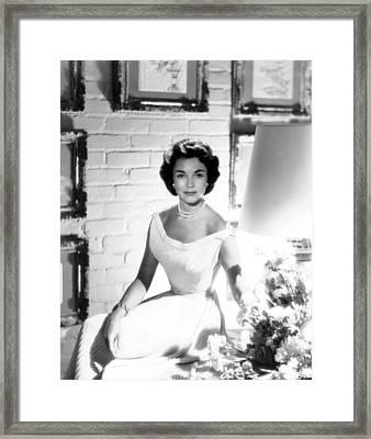 Jennifer Jones, At Home, Ca. Late 1950s Framed Print by Everett
