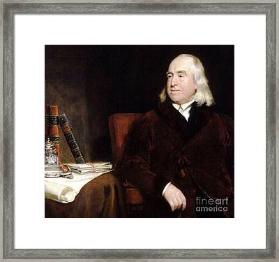 Jeremy Bentham Framed Print by Pg Reproductions