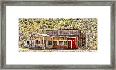 Jerome Arizona - General Store Framed Print by Gregory Dyer