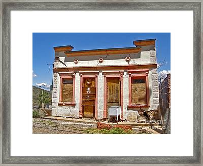 Jerome Arizona - Miner Shack Framed Print by Gregory Dyer