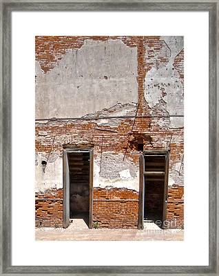 Jerome Arizona - Ruins Framed Print by Gregory Dyer
