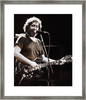 Jerry Garcia 1981 Framed Print by Chuck Spang