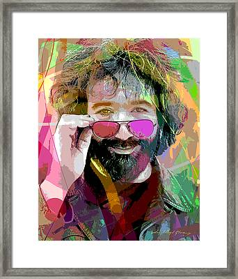 Jerry Garcia Art Framed Print by David Lloyd Glover