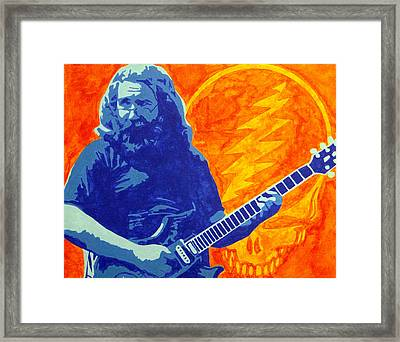 Jerry Garcia Framed Print by Doran Connell