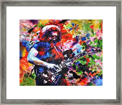 Jerry Garcia - Grateful Dead - Original Painting Print Framed Print by Ryan Rock Artist