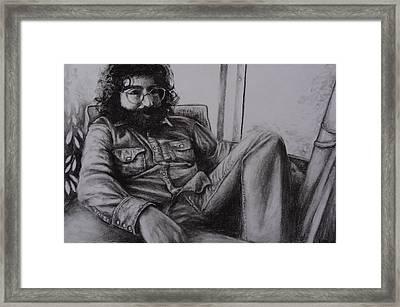 Jerry Garcia In '72   Framed Print by Leandria Goodman