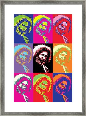 Jerry Garcia Pop Art Collage Framed Print by Dan Sproul