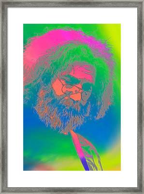 Jerry Garcia Tie Dye Framed Print by Dan Sproul