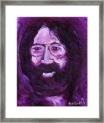 Jerry In Mauve Framed Print by Jon Griffin