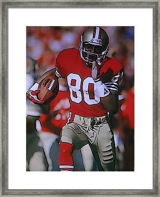 Jerry Rice Framed Print by Dan Sproul
