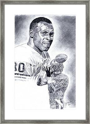 Jerry Rice Framed Print by Jonathan Tooley