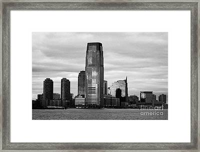 Jersey City New Jersey Waterfront And 10 Exchange Place New York City Framed Print by Joe Fox
