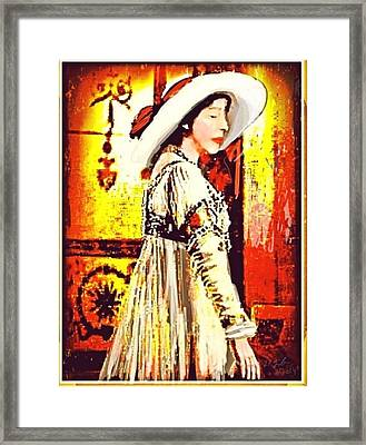 Jersey Lil Langtry Framed Print by Larry Lamb