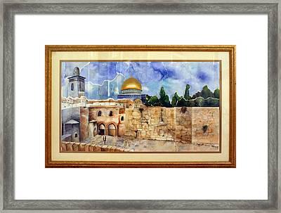 Jerusalem Cradle Of Civilization Framed Print by Rachel Alhadeff