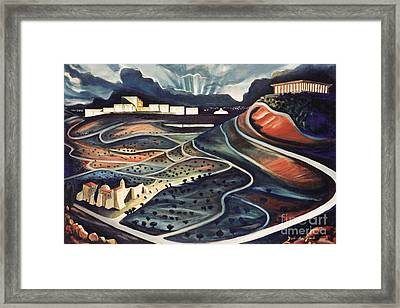 Jerusalem Diamonds Framed Print by Yael Avi-Yonah