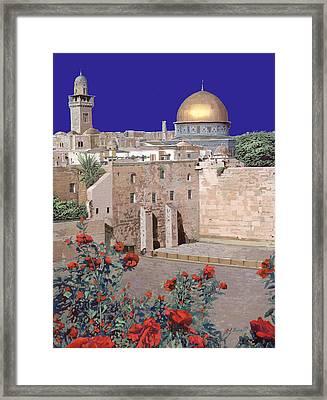 Jerusalem Framed Print by Guido Borelli