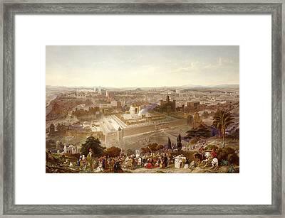 Jerusalem In Her Grandeur Framed Print by Henry Courtney Selous