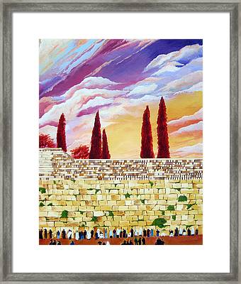 Jerusalem Prayers Framed Print by Dawnstarstudios
