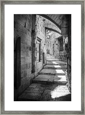 Jerusalem Street Framed Print by Alexey Stiop