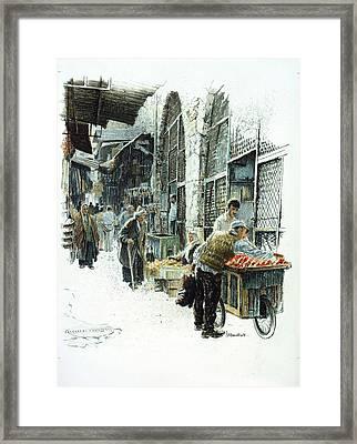 Jerusalem Street Framed Print by Graham Braddock