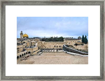 Jerusalem The Western Wall Framed Print by Ron Shoshani