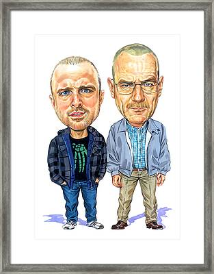 Jesse Pinkman And Walter White Framed Print by Art