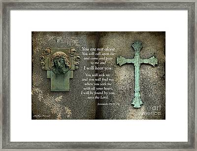 Jesus And Cross - Inspirational - Bible Scripture Framed Print by Kathy Fornal