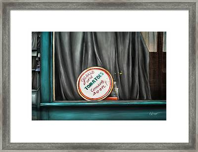 Jesus And Tomatoes Framed Print by Brenda Bryant