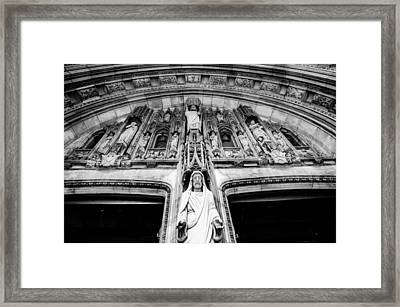 Jesus And Us. Framed Print by Laura Jimenez