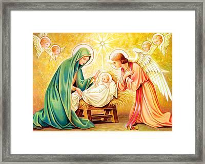 Jesus Birth Framed Print by Munir Alawi