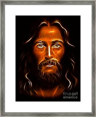 Brilliant Jesus Christ Portrait Framed Print by Pamela Johnson