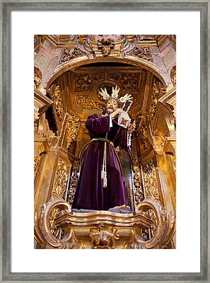 Jesus Christ Carrying The Cross Framed Print by Artur Bogacki