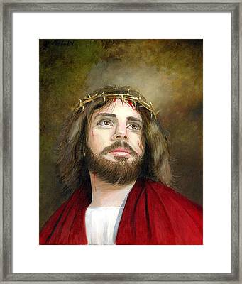 Jesus Christ Crown Of Thorns Framed Print by Cecilia Brendel