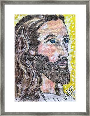 Jesus Christ Framed Print by Kathy Marrs Chandler
