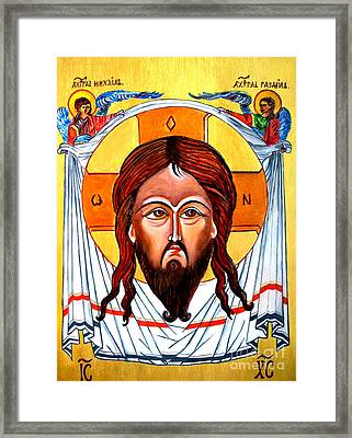 Jesus Christ Mandylion Icon Framed Print by Ryszard Sleczka