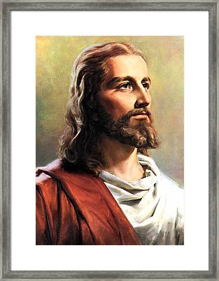 Jesus Christ Framed Print by Munir Alawi