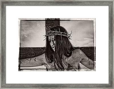 Jesus Christ Portrait Framed Print by Ramon Martinez