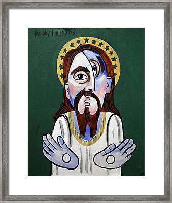 Jesus Christ Superstar Framed Print by Anthony Falbo