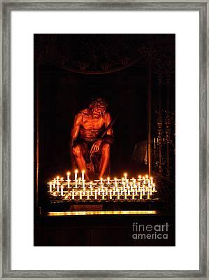 Jesus Christ Framed Print by Syed Aqueel