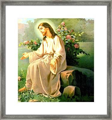 Jesus Christ Framed Print by Unknown