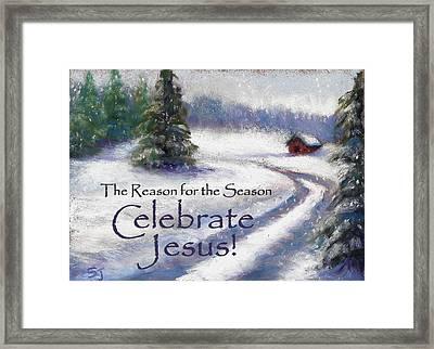 Jesus Christmas Framed Print by Susan Jenkins