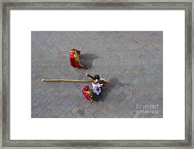 Jesus Died For Us II Framed Print by Al Bourassa