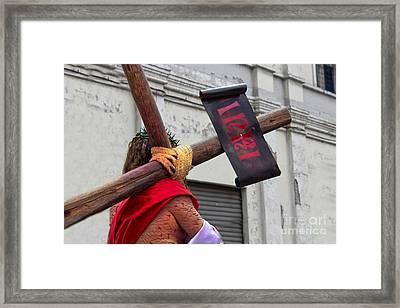 Jesus Died For Us IIi Framed Print by Al Bourassa