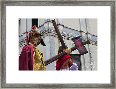 Jesus Died For Us Vi Framed Print by Al Bourassa