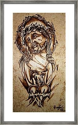 Jesus Heart . Framed Print by G S