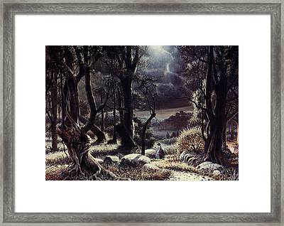 Jesus In The Garden Framed Print by Graham Braddock